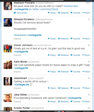 #Collegelife is a terrifying tag
